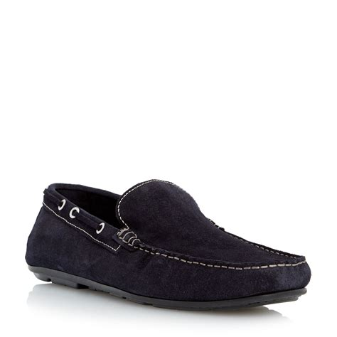 blue loafers for roland cartier brisk casual loafers in blue for lyst