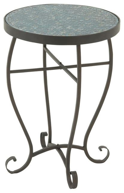 turquoise outdoor side table barca mosaic side table contemporary outdoor side
