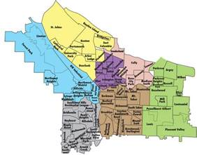 map of oregon portland portland oregon neighborhoods