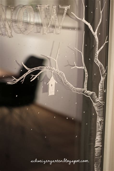 Fensterdeko Weihnachten Kreide by Ein Schweizer Garten Let It Snow Fenstermalereien