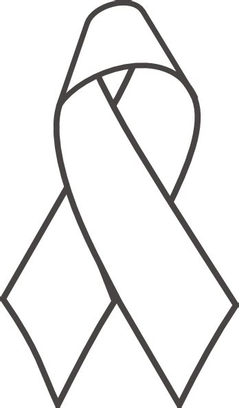 coloring page of breast cancer ribbon breast cancer ribbon b w clip art at clker com vector