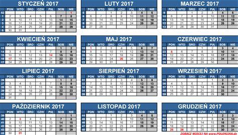 Kalendarz 2018 Daty świąt Kalendarze Polonijka De