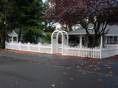 wood fence front yard vinyl and wood fences add character and charm to your