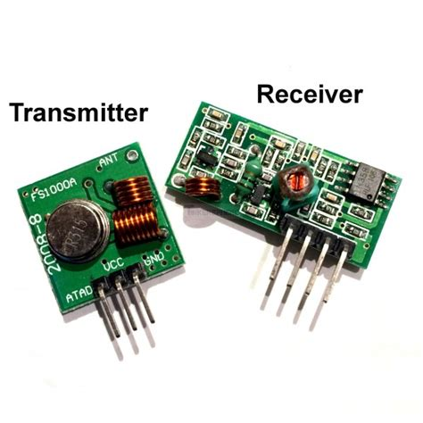 Rf Wireless Transmitter 8 99 rf link transmitter receiver module pair 433mhz