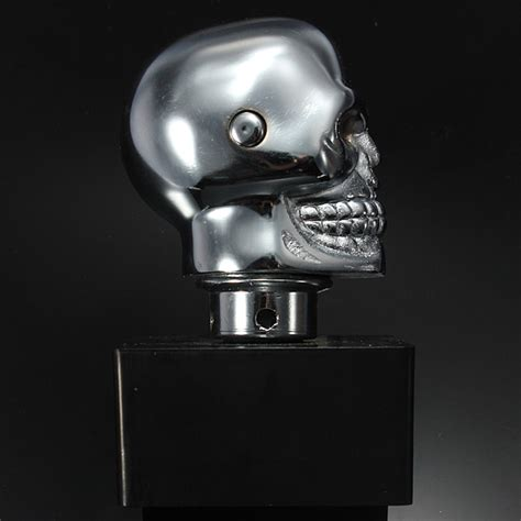 Chrome Skull Shift Knob by Car Chrome Skull Auto Manual Gear Stick Shift Knob Lever