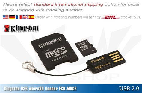 Usb Microsd Card Reader Kingston Fcr Mrg2 kingston fcr mrg2 usb micro sd card reader writer card reader ebay