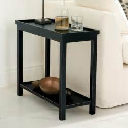 Narrow Side Table Narrow Side Table In Rubbed Black Oka