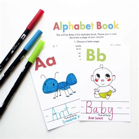 meaningful baby shower gifts diy alphabet book baby shower activity baby showers