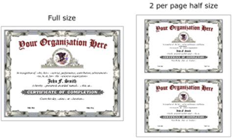 half page certificate template make authentic award certificates