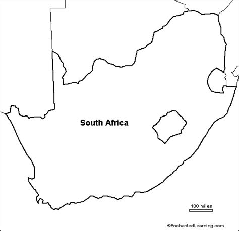 Blank Outline Of Africa by Blank Map Of South Africa
