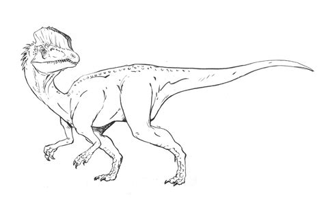 Dilophosaurus Coloring Page free coloring pages of dilophosaurus