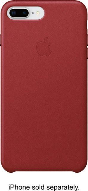 apple iphone    leather case productred