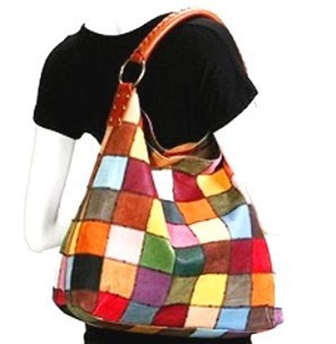 Lucky Brand Patchwork Bag - bag sp 003 lucky brand patchwork slouchy
