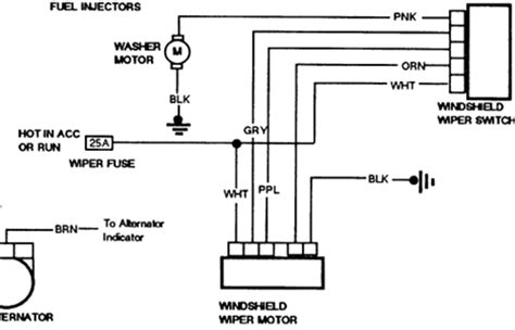 1994 s10 rear wiper motor wiring diagram fixya