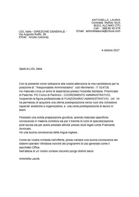 esempio di lettere di presentazione esempio lettera di presentazione docsity