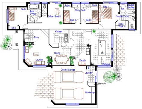 5 bedroom floor plans australia beautiful 4 bedroom house plans with bonus room for hall