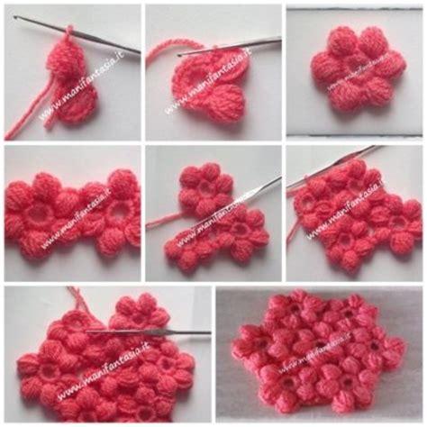 fiori maglia e uncinetto fiori uncinetto punto nocciolina manifantasia