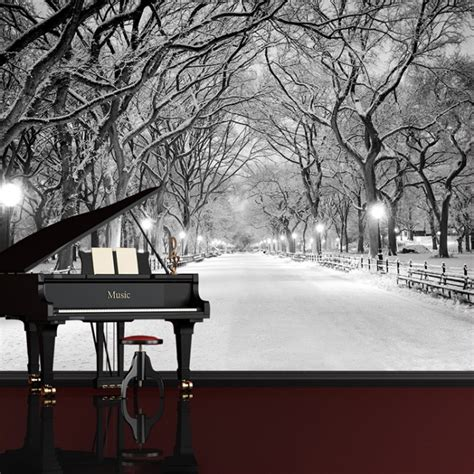 central park  york wall mural black white wallpaper