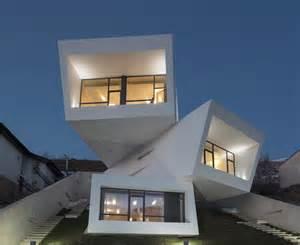 House Architecture Futuristic House With Geometric Architecture In Tehran