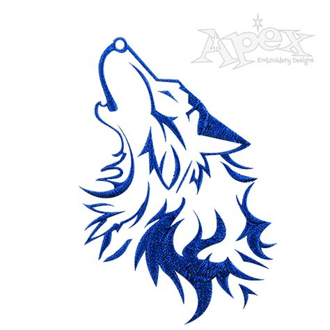 design is wolf wolf head embroidery design