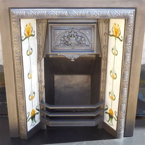 original vintage fireplace insert from