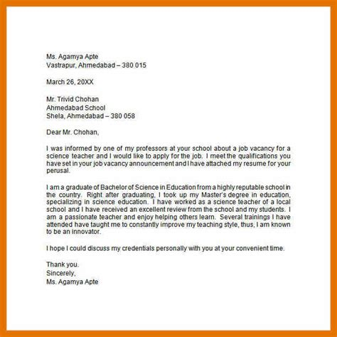 application letter sle for the post of application letter for a post 28 images 9 application