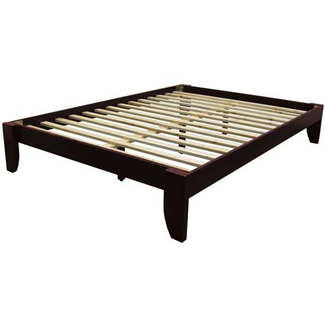Platform Frame Bed Black Solid Wood Bed Frame With 2 Drawer And Storage With Mattress Using White Bed Linen