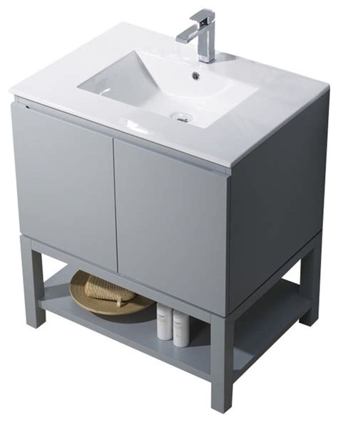 vanity emmet 31 with integrated white porcelain metal