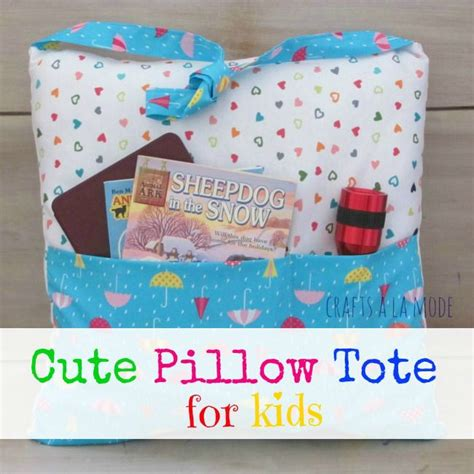 Pillow Books by Crafts A La Mode Pocket Pillow Tote For Books Sewing