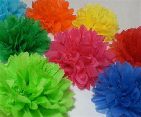 tissue paper flower centerpieces tea party ideas