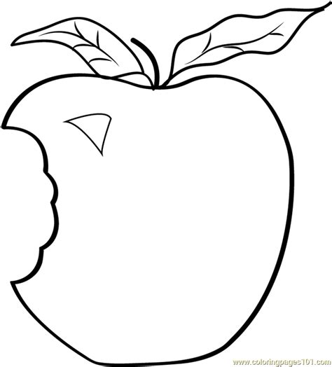 coloring pages of apple white applie bite coloring page free apples coloring pages
