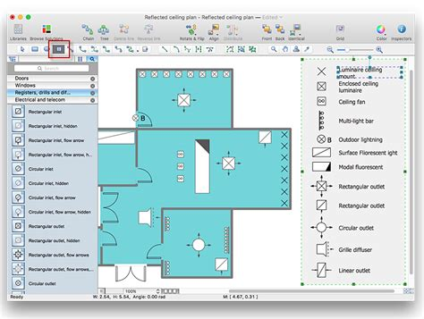 reflected floor plan creating a reflected ceiling floor plan conceptdraw helpdesk