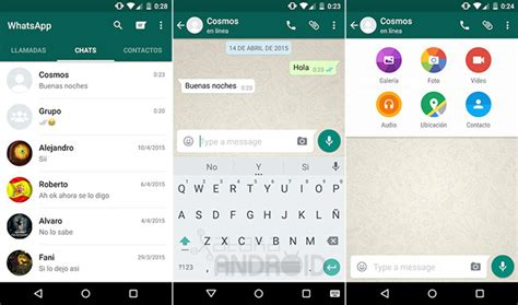 what s my android version whatsapp messenger for android free