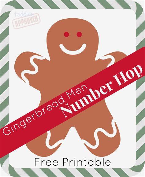 free printable gingerbread man games gingerbread men number hop toddler approved bloglovin