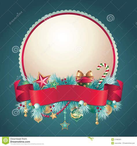 imagenes navidad redondas bandera redonda del saludo de la navidad del vintage