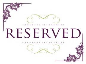 Reserved Cards For Tables Templates by Reserved Seating Signs Cake Ideas And Designs