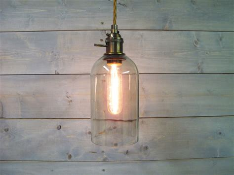 wine bottle pendant light large clear glass by vexdecor