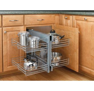 blind corner cabinet pull out shelves organizers at