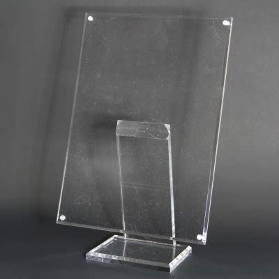 Display Acrylic A4 Horizontal a4 acrylic poster display stand with magnetic fixings acrylic sign leaflet holders