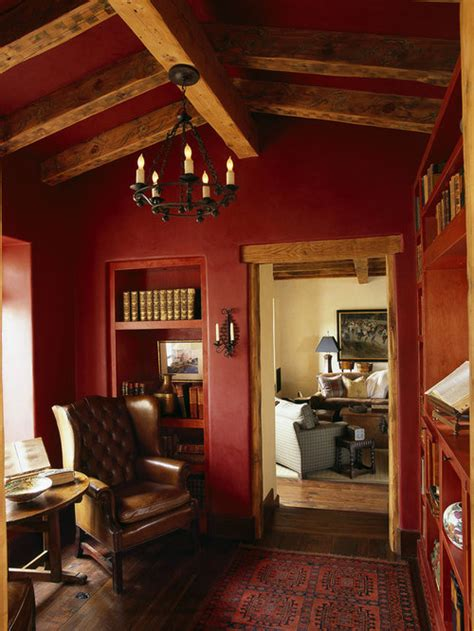 red wall paint home design ideas pictures remodel  decor