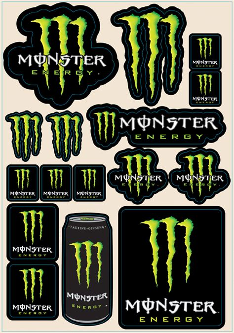 Monster Aufkleber by 2010 Monster Sticker Sheet