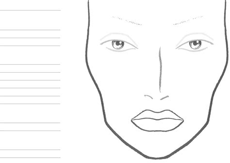 makeup charts template chart 1 for free tidyform