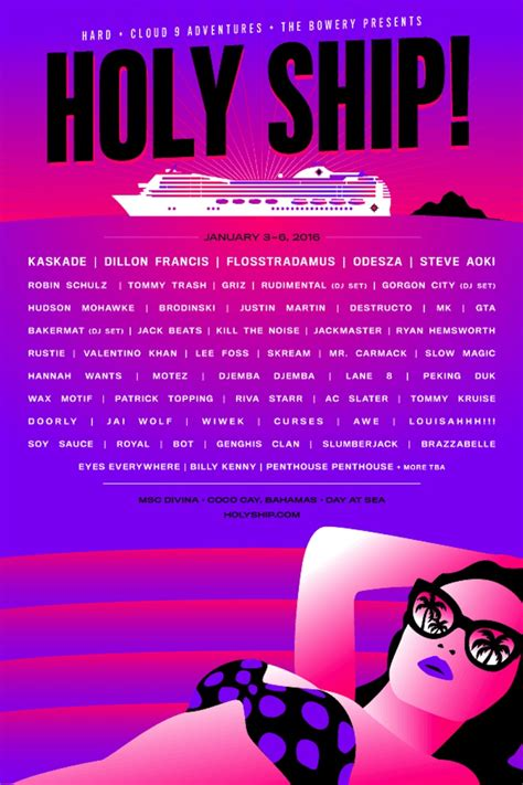 Rolinson Rl 2019 the holy ship lineups are here to save you from the