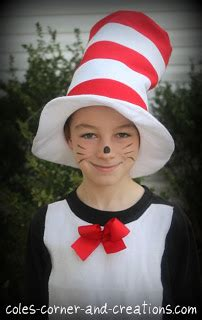pattern for cat in the hat costume mama lusco handmade march 2012