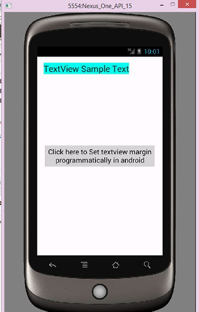 android set layout weight programmatically textview set textview margin programmatically in android android
