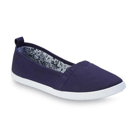 basic editions s dakota navy slip on shoe