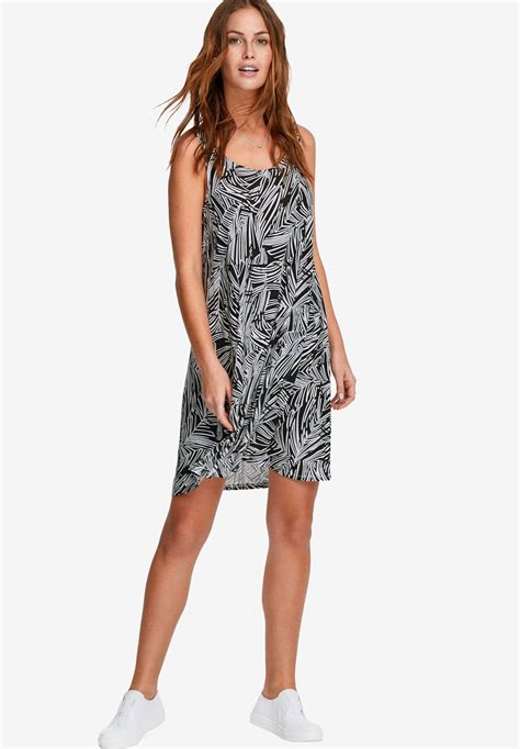 crossover tank dress by ellos 174 plus size casual dresses within