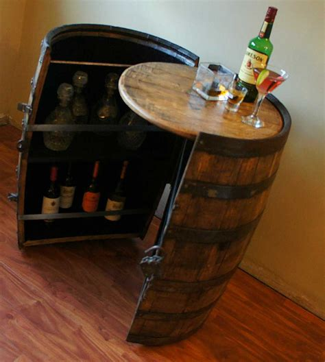 Whiskey Barrel Cabinet by Customer Response On His Four Roses Barrel Cabinet