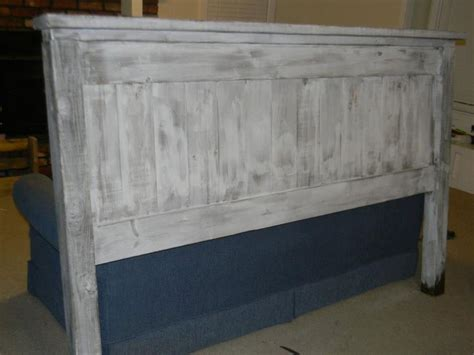 distressed white headboard white washed lightly distressed king headboard project