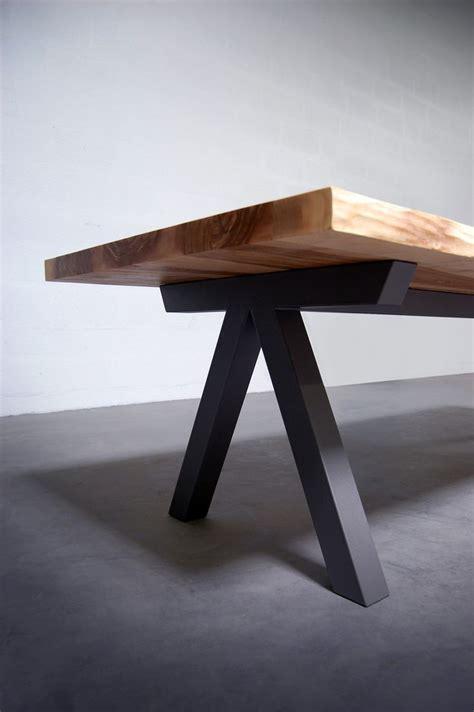 Banc Bois Brut 965 by Table Bois Pieds Metal Maison Design Wiblia